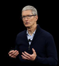 CUPERTINO, CA - SEPTEMBER 12: Apple CEO Tim Cook speaks during an Apple special event at the Steve Jobs Theatre on the Apple Park campus on September 12, 2017 in Cupertino, California. Apple is holding their first special event at the new Apple Park campus where they are expected to unveil a new iPhone.   Justin Sullivan/Getty Images/AFP == FOR NEWSPAPERS, INTERNET, TELCOS & TELEVISION USE ONLY ==