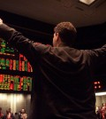 REUTERS/Sue Ogrocki Trader Anthony Pontarelli jumps above the rest of the traders as he works a trade in the Eurodollar pit at the Chicago Mercantile Exchange as limited trading resumes at the CME, September 13, 2001, after a two-day halt due to the terrorist activities in the nation.