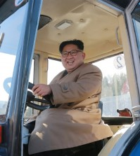"This undated picture released from North Korea's official Korean Central News Agency (KCNA) on November 15, 2017 shows North Korean leader Kim Jong-Un inspecting the Kumsong Tractor Factory in Nampo City, North Korea. / AFP PHOTO / KCNA VIA KNS / STR / South Korea OUT / REPUBLIC OF KOREA OUT   ---EDITORS NOTE--- RESTRICTED TO EDITORIAL USE - MANDATORY CREDIT ""AFP PHOTO/KCNA VIA KNS"" - NO MARKETING NO ADVERTISING CAMPAIGNS - DISTRIBUTED AS A SERVICE TO CLIENTS THIS PICTURE WAS MADE AVAILABLE BY A THIRD PARTY. AFP CAN NOT INDEPENDENTLY VERIFY THE AUTHENTICITY, LOCATION, DATE AND CONTENT OF THIS IMAGE. THIS PHOTO IS DISTRIBUTED EXACTLY AS RECEIVED BY AFP.  /"