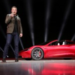 FILE PHOTO: Tesla CEO Elon Musk unveils the Roadster 2 during a presentation in Hawthorne, California, U.S., November 16, 2017. Tesla/Handout via REUTERS/File Photo ATTENTION EDITORS THIS IMAGE WAS PROVIDED BY A THIRD PARTY. NO ARCHIVES. NO RESALES